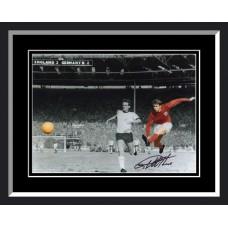 Geoff Hurst Signed England 4th Goal Framed Photo
