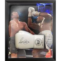 Anthony Joshua Signed & Framed White Boxing Glove B