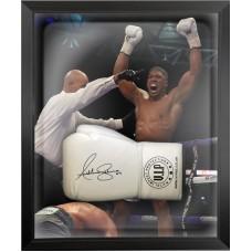 Anthony Joshua Signed & Framed White Boxing Glove A