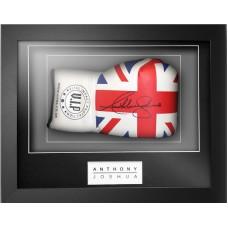 Anthony Joshua Signed & Framed Union Jack VIP Boxing Glove