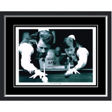 Alex Higgins Signed & Framed Photo