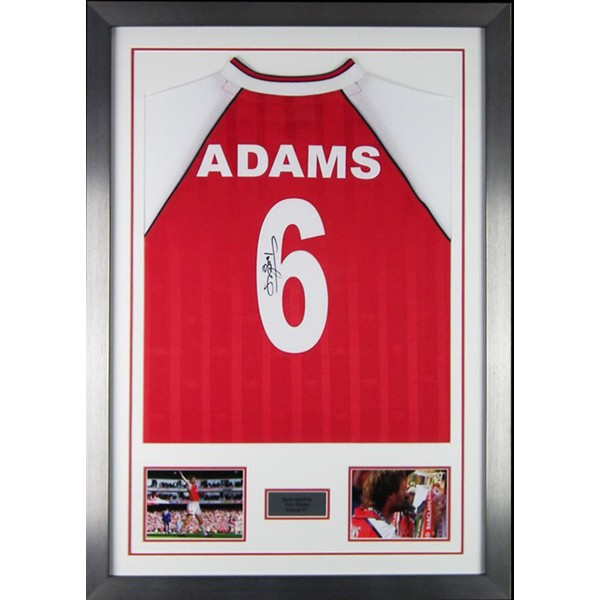 first rate ddfb3 dc513 Tony Adams Signed Arsenal Framed Shirt