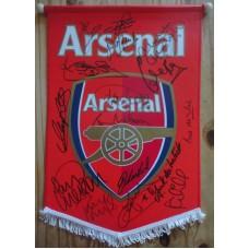 Arsenal Multi Signed Pennant