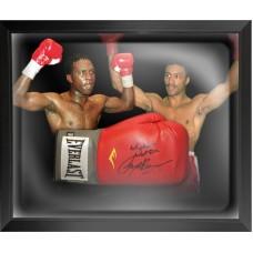 Nigel Benn & Michael Watson Signed & Framed Boxing Glove