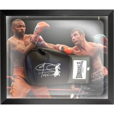 Joe Calzaghe Signed Boxing Glove Framed in a Dome