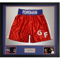 George Foreman Signed & Framed Boxing Trunks