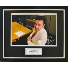 Ricky Gervais 'The Office' Signed & Framed Photo Montage