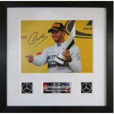 Lewis Hamilton Signed & Framed Photo Montage