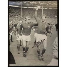 Jack Charlton Signed 1966 England Montage