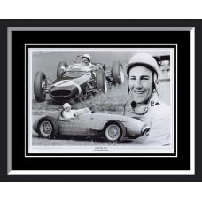 Stirling Moss Signed & Framed Photo Montage