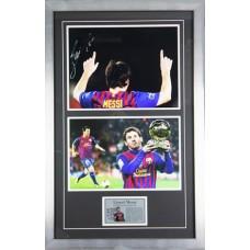 Lionel Messi Signed & Framed Photo Montage