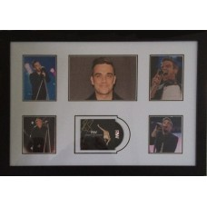 Robbie Williams Signed CD/Photo Montage