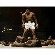 Muhammad Ali Signed 'Phantom Punch' 24 x 20 Photograph (Online Authentics COA)