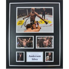 Anderson Silva Signed & Framed Photo Montage