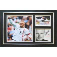 David Beckham Signed & Framed Photo Montage