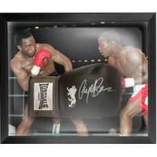 Nigel Benn Signed Boxing Glove Framed in a Dome