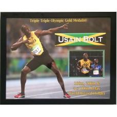Usain Bolt Signed & Framed Photo Montage