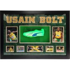 Usain Bolt Signed & Framed Running Shoe