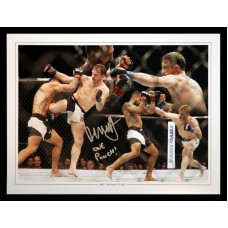 Brad Pickett Signed 12x16 Ultimate Fighting Championship Montage