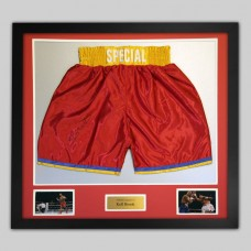 Kell Brook Signed & Framed Boxing Trunks