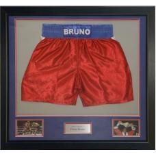 Frank Bruno Signed & Framed Boxing Trunks
