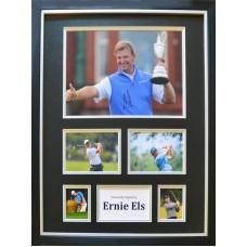 Ernie Els Signed & Framed Photo