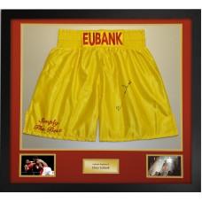 Chris Eubank Signed & Framed Boxing Trunks