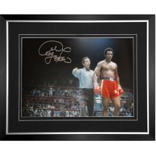 George Foreman Signed & Framed Photo