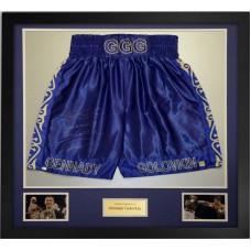 Gennady Golovkin Signed & Framed Boxing Trunks