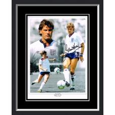 Glenn Hoddle Signed England Photo Montage