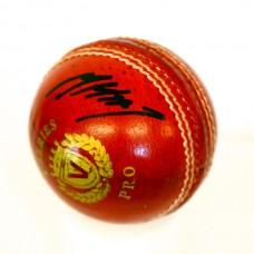 Matthew Hoggard Signed Red Cricket Ball