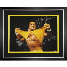 Hulk Hogan Signed & Framed Photo