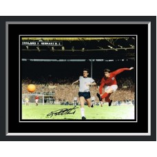 Geoff Hurst Signed England World Cup Final 1966 4th Goal Colour Photo Framed