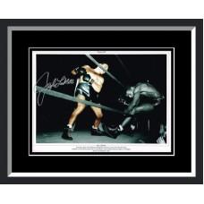 Jake LaMotta Signed & Framed Photo