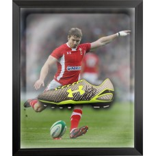Leigh Halfpenny Signed Rugby Boot Framed in a Dome