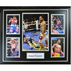 Manny Pacquiao Signed & Framed Photo Montage