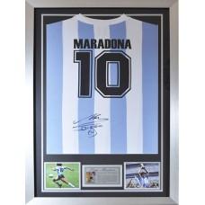 Diego Maradona Signed & Framed Argentina Shirt