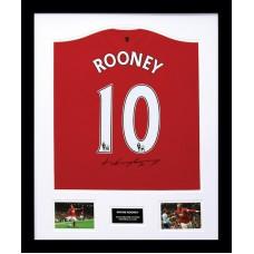 Wayne Rooney Signed Manchester United Framed Shirt