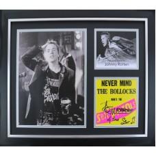 Johnny 'Rotten' Lydon Signed & Framed Sex Pistiols Photo Montage