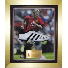 David Beckham Signed Football Boot Framed in a Dome
