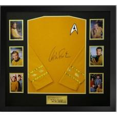 William Shatner Signed & Framed 'Star Trek Captain Kirk' Shirt