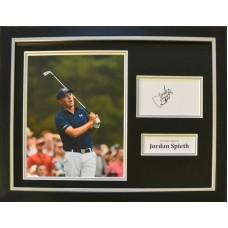 Jordan Spieth Signed & Framed Photo