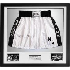 Michael Spinks Signed & Framed Boxing Trunks