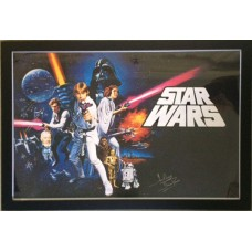 Dave Prowse Signed & Framed 'Star Wars Poster