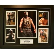 Tom Hardy 'Bane' Signed & Framed 'The Dark Knight Rises' Photo Montage