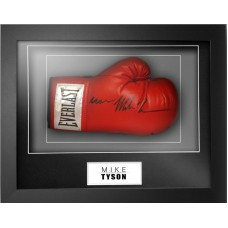 Mike Tyson Signed & Framed Boxing Glove (Rare inscribed 'IRON')