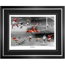 Geoff Hurst & Martin Peters Signed 1966 England World Cup Final Framed 'Goals' Montage